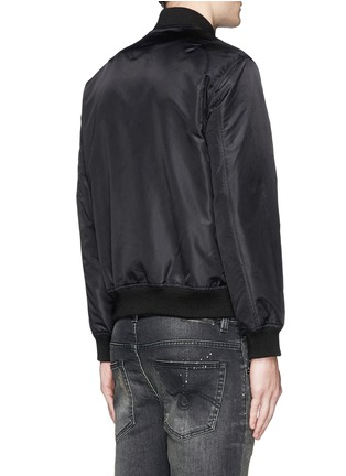 Back View - Click To Enlarge - R13 - Double zip front bomber jacket