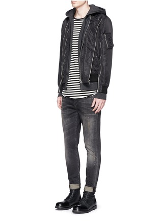Figure View - Click To Enlarge - R13 - Double zip front bomber jacket