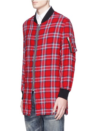 Front View - Click To Enlarge - R13 - 'Flight' tartan plaid shirt jacket