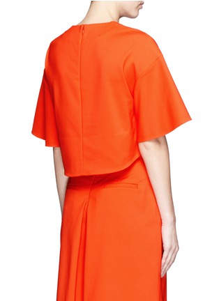 Back View - Click To Enlarge - Tibi - 'Agathe' bell sleeve cropped top