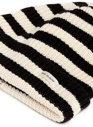Detail View - Click To Enlarge - 70001 - 'Bob Blauw' stripe cotton beanie