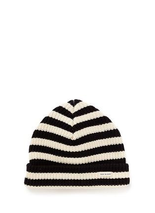 Main View - Click To Enlarge - 70001 - 'Bob Blauw' stripe cotton beanie