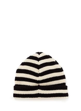 Figure View - Click To Enlarge - 70001 - 'Bob Blauw' stripe cotton beanie