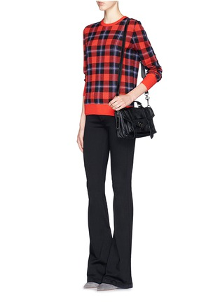 Figure View - Click To Enlarge - Equipment - 'Shane' buffalo check plaid sweater