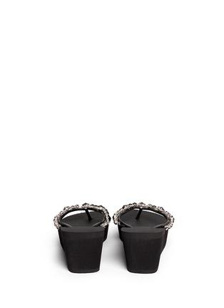 Back View - Click To Enlarge - Uzurii - 'Marilyn' crystal wedge flip flops