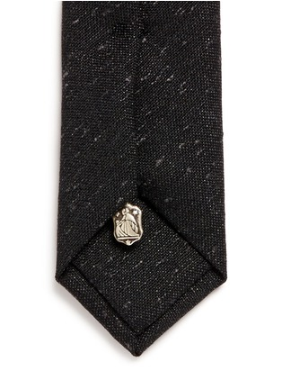 Detail View - Click To Enlarge - LANVIN - Embroidered wool-silk-nylon skinny tie