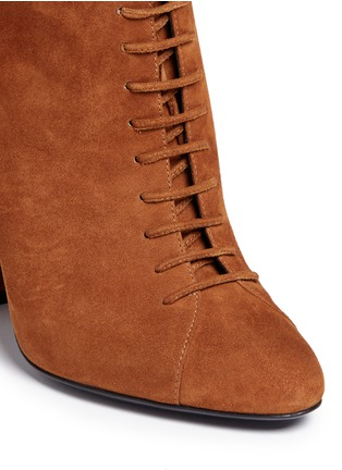 Detail View - Click To Enlarge - Stella Luna - Lace-up suede ankle boots