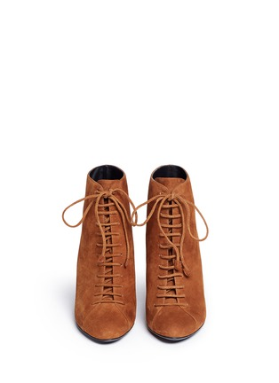 Figure View - Click To Enlarge - Stella Luna - Lace-up suede ankle boots