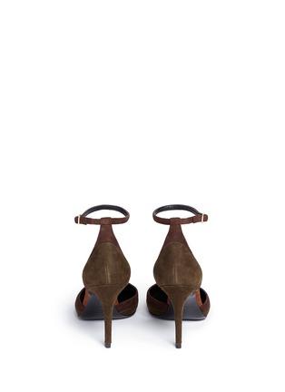 Back View - Click To Enlarge - STELLA LUNA - Patchwork suede d'Orsay pumps