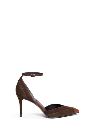 Main View - Click To Enlarge - STELLA LUNA - Patchwork suede d'Orsay pumps