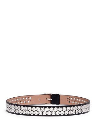 Back View - Click To Enlarge - Alaïa - Inset eyelet leather belt