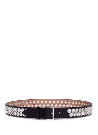 Main View - Click To Enlarge - Alaïa - Inset eyelet leather belt
