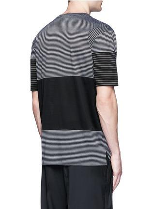 Back View - Click To Enlarge - Lanvin - Colourblock stripe T-shirt