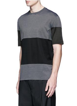 Front View - Click To Enlarge - Lanvin - Colourblock stripe T-shirt