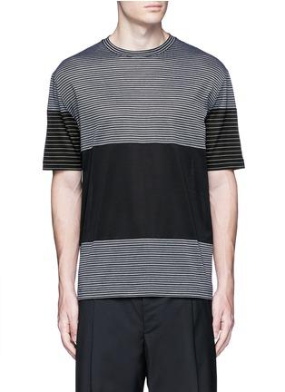 Main View - Click To Enlarge - Lanvin - Colourblock stripe T-shirt