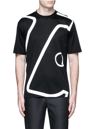 Main View - Click To Enlarge - Lanvin - 'L' macro logo print T-shirt