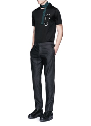 Figure View - Click To Enlarge - Lanvin - Footstep embroidery T-shirt