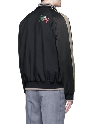 Back View - Click To Enlarge - Lanvin - Spider embroidery baseball jacket