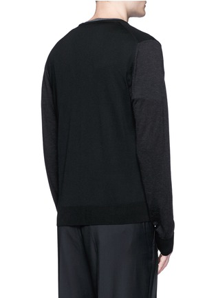 Back View - Click To Enlarge - Lanvin - Mixed media cardigan