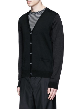 Front View - Click To Enlarge - Lanvin - Mixed media cardigan