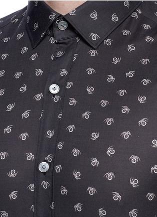 Detail View - Click To Enlarge - Lanvin - Slim fit spider print cotton shirt