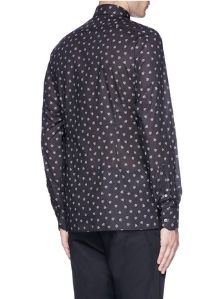 Back View - Click To Enlarge - Lanvin - Slim fit spider print cotton shirt
