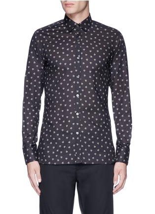 Main View - Click To Enlarge - LANVIN - Slim fit spider print cotton shirt