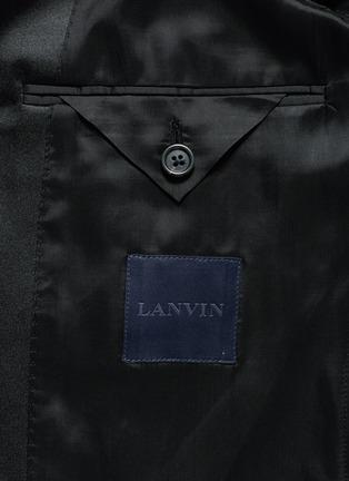 - Lanvin - 'Attitude' satin trim wool tuxedo suit