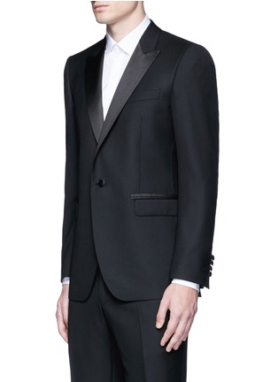 Front View - Click To Enlarge - Lanvin - 'Attitude' satin trim wool tuxedo suit