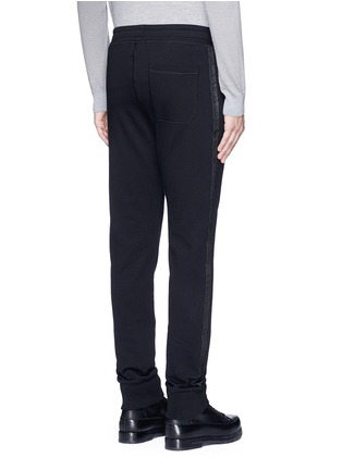 Back View - Click To Enlarge - Lanvin - Slim fit ribbon stripe jogging pants