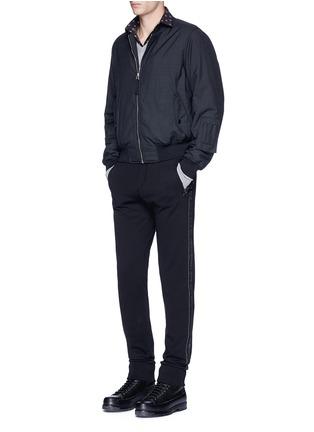 Figure View - Click To Enlarge - Lanvin - Slim fit ribbon stripe jogging pants
