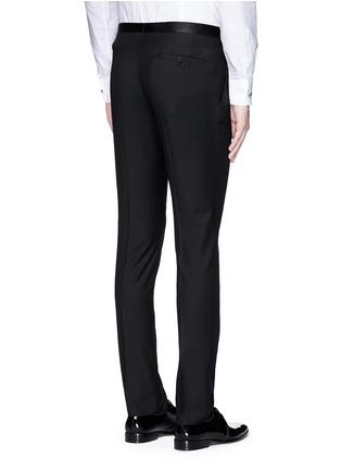 Back View - Click To Enlarge - Lanvin - Slim fit satin trim tuxedo pants