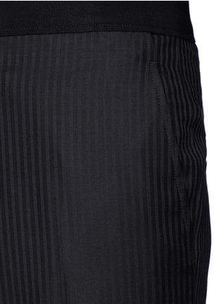 Detail View - Click To Enlarge - LANVIN - Slim fit stripe jacquard wool pants
