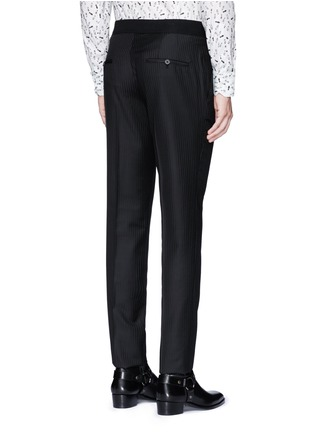 Back View - Click To Enlarge - Lanvin - Slim fit stripe jacquard wool pants