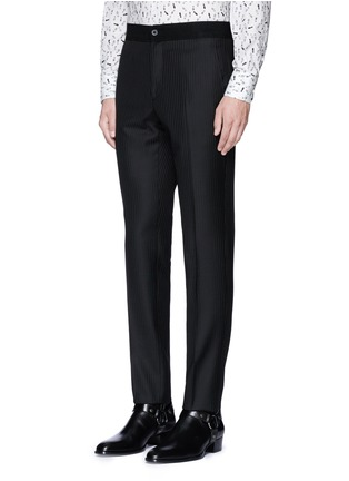 Front View - Click To Enlarge - Lanvin - Slim fit stripe jacquard wool pants