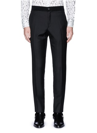Main View - Click To Enlarge - Lanvin - Slim fit stripe jacquard wool pants