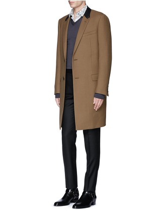 Figure View - Click To Enlarge - Lanvin - Slim fit stripe jacquard wool pants