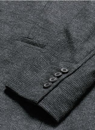 - Lanvin - Houndstooth wool flannel soft blazer