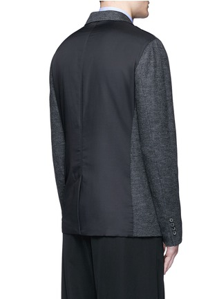 Back View - Click To Enlarge - Lanvin - Houndstooth wool flannel soft blazer