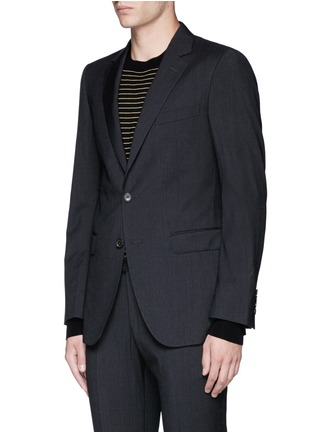 Front View - Click To Enlarge - Lanvin - 'Attitude' woven stripe wool suit