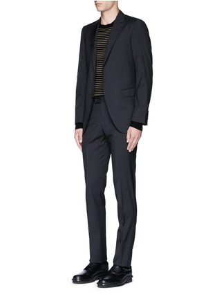 Figure View - Click To Enlarge - LANVIN - 'Attitude' woven stripe wool suit