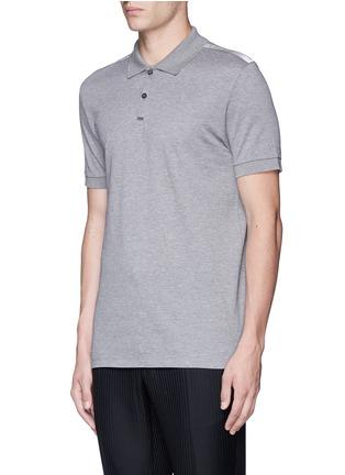 Front View - Click To Enlarge - Lanvin - Slim fit ribbon shoulder polo shirt