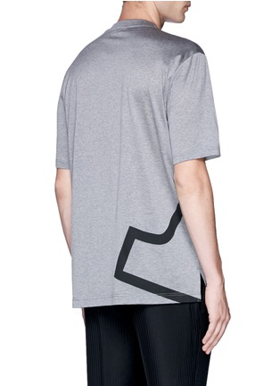 Back View - Click To Enlarge - Lanvin - 'L' macro logo print T-shirt