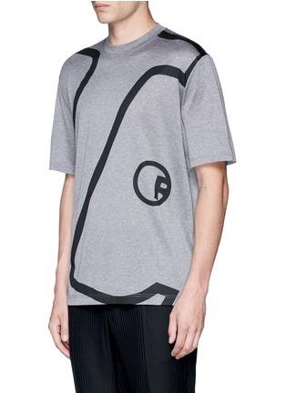 Front View - Click To Enlarge - Lanvin - 'L' macro logo print T-shirt