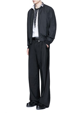 Figure View - Click To Enlarge - Lanvin - Slim fit grosgrain collar shirt
