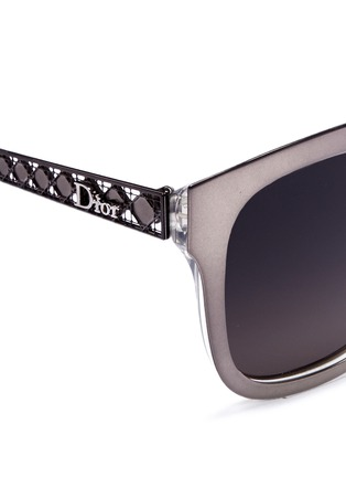 Detail View - Click To Enlarge - Dior - 'Diorama 1' metal openwork temple square cat eye sunglasses