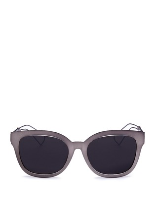 Main View - Click To Enlarge - Dior - 'Diorama 1' metal openwork temple square cat eye sunglasses