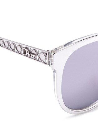 Detail View - Click To Enlarge - Dior - 'Diorama 2' metal openwork temple acetate mirror sunglasses