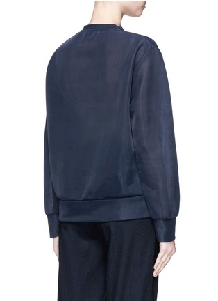 Back View - Click To Enlarge - Emilio Pucci - Tourist face embroidery bonded tulle top