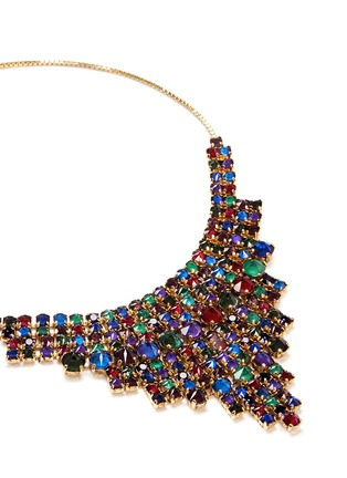 Detail View - Click To Enlarge - Erickson Beamon - 'Hyperdrive' Swarovski crystal tiered drop necklace